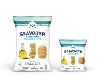 Snacks: Mediterranea Seawater Potato Chips (Case of 10 x 8oz Bags)