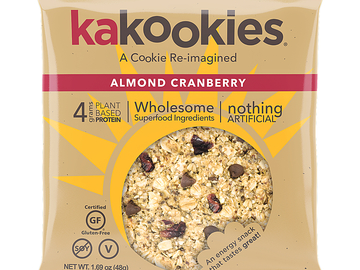 Snacks: Kakookies Superfood Oatmeal Snack Cookies - Almond Cranberry