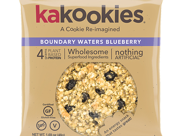 Snacks: Kakookies Superfood Oatmeal Snack Cookies - Blueberry