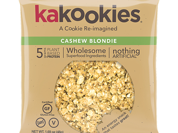 Snacks: Kakookies Superfood Oatmeal Snack Cookies - Cashew Blondie