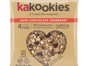 Snacks: Kakookies Oatmeal Snack Cookies - Dark Chocolate Cranberry
