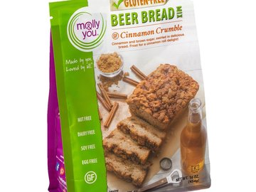 Baked Goods : molly&you® Gluten-Free Cinnamon Crumble Beer Bread Mix