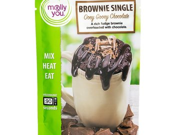 Snacks: molly&you® 3-Pack Ooey Gooey Chocolate Brownie Single
