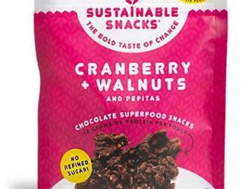 Snacks: Cranberry + Walnuts  Chocolate Superfood Snack