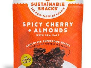 Snacks: Spicy Cherry + Almonds  Chocolate Superfood Snack