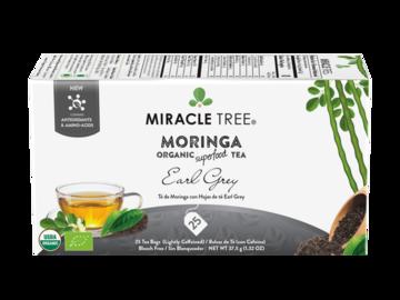 Coffee & Tea : Organic Moringa Superfood Tea, Earl Grey, 25Ct. x 6 units