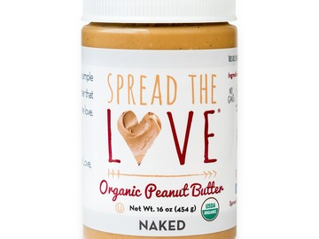 Small Batch: Spread The Love® NAKED Organic Peanut Butter