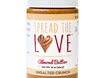 Small Batch: Spread The Love® UNSALTED CRUNCH Almond Butter