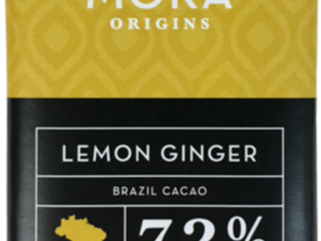 Chocolate : Lemon Ginger Dark Chocolate Bar: Brazil Single-Origin