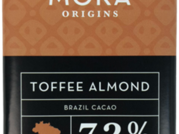 Chocolate : Toffee Almond Dark Chocolate Bar: Brazil Single-Origin