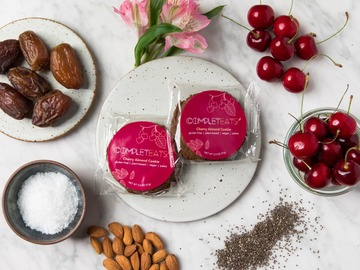 Baked Goods : Plant-Based & Gluten-Free Cherry Almond Cookies