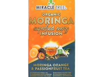 Coffee & Tea : Organic Moringa Energy Infusion, Orange Passionfruit, 16Ct. x 5