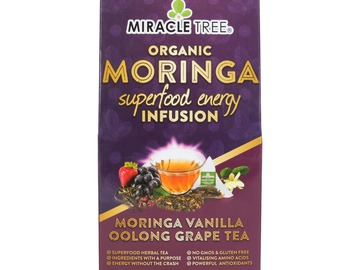Coffee & Tea : Organic Moringa Energy Infusion, Vanilla Oolong, 16Ct. x 5