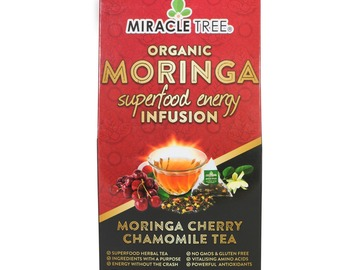 Coffee & Tea : Organic Moringa Energy Infusion, Cherry Chamomile, 16Ct. x 5