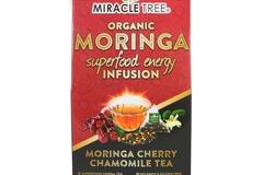 Coffee & Tea : Organic Moringa Energy Infusion, Cherry Chamomile, 16Ct. x 5