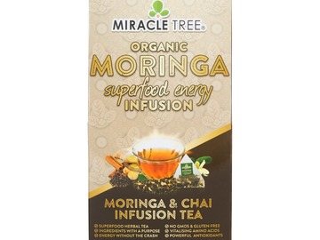 Coffee & Tea : Organic Moringa Energy Infusion, Chai, 16Ct. x 5