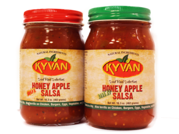 Condiments & Sauces : KYVAN Mild and Hot Honey Apple Salsa