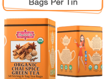 Coffee & Tea : Organic Chai Spice Green Tea, 50 bags