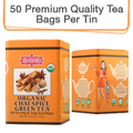 Coffee & Tea : Organic Chai Spice Green Tea, 50 bags