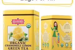 Coffee & Tea : Organic Chamomile Lemon Green Tea, 50 bags