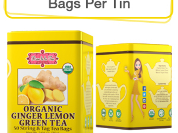 Coffee & Tea : Organic Ginger Lemon Green Tea, 50 bags