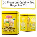 Coffee & Tea : Organic Ginger Lemon Green Tea, 50 bags