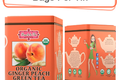Coffee & Tea : Organic Ginger Peach Green Tea, 50 bags