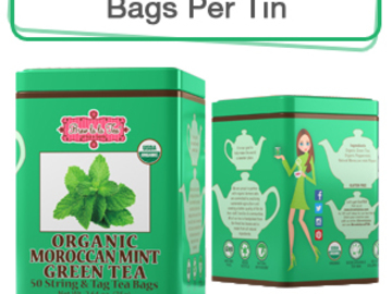 Coffee & Tea : Organic Moroccan Mint Green Tea, 50 bags