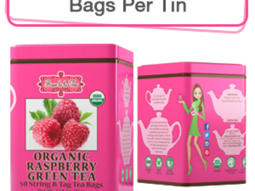 Coffee & Tea : Organic Raspberry Green Tea, 50 bags