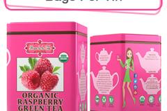 Coffee & Tea : Organic Raspberry Green Tea, 50 bags