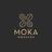 Moka stacked logo gold grey 01